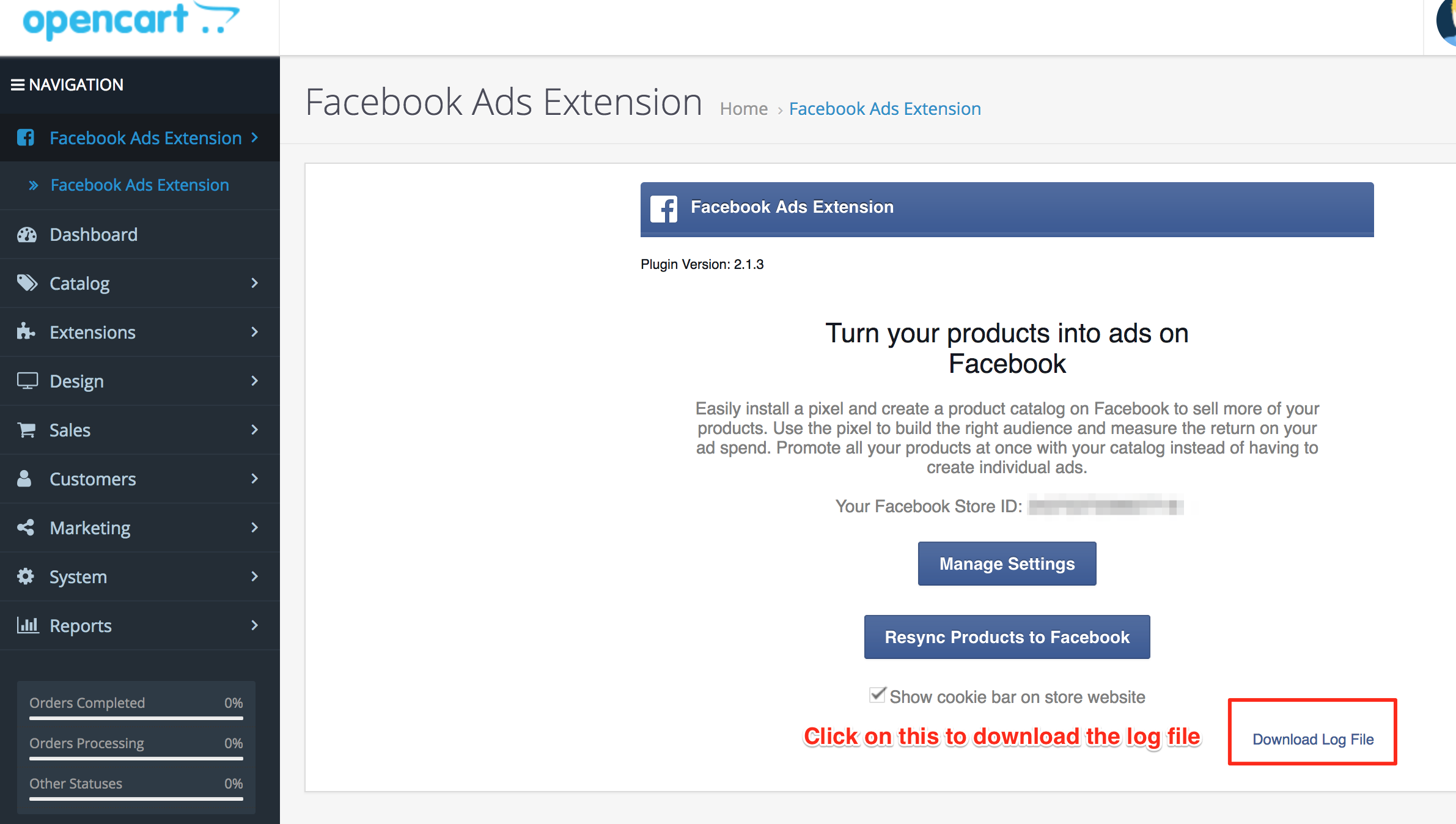The Facebook access token is invalid  Please click on