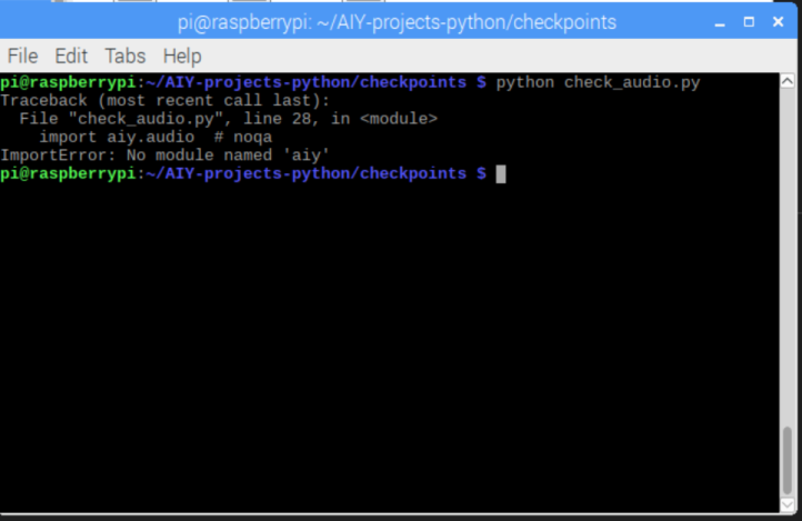 ImportError: No module named 'aiy' · Issue #309 · google