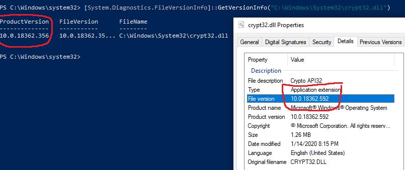crypt32-dll-powershell-vs-rightclick