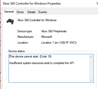 Windows 10 Xbox 360 (Wired) controller not working · Issue