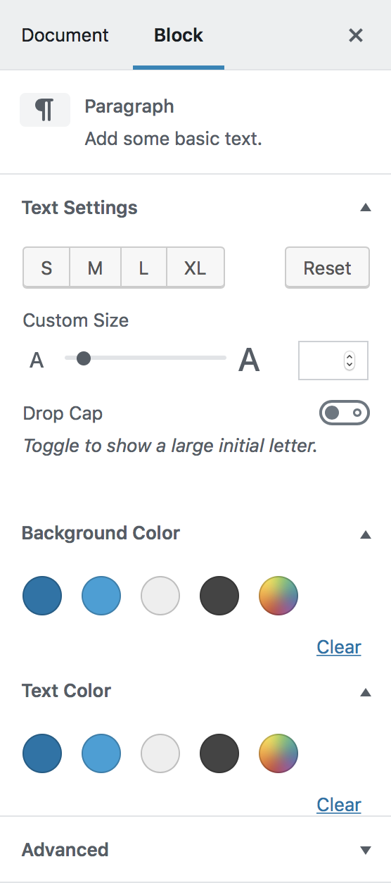 Consider adding color and text size customizations to all