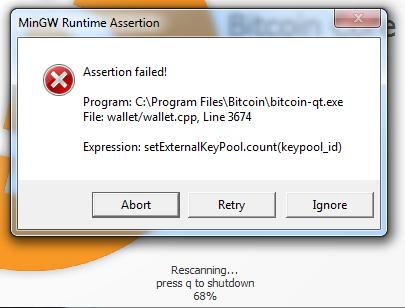 bitcoin qt rescan