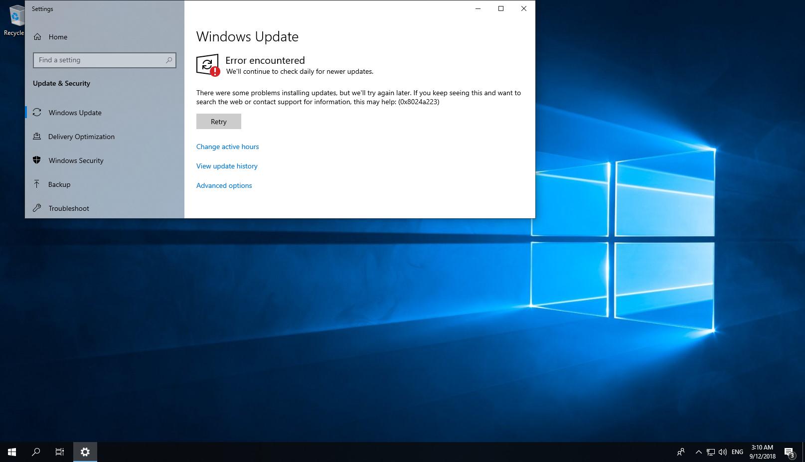 NET Framework install is failed on Windows 10 RS5 build