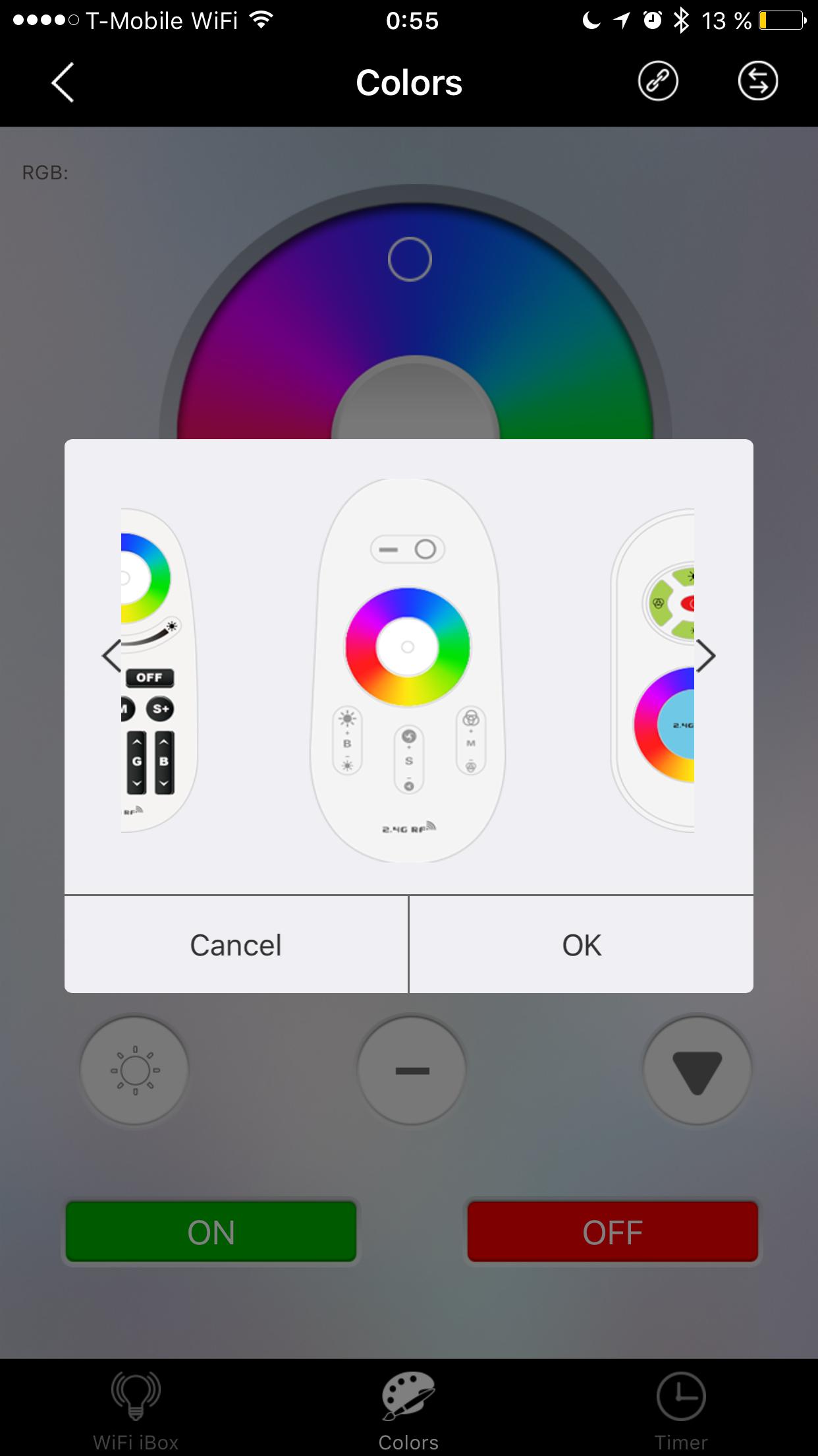 mi light app not working