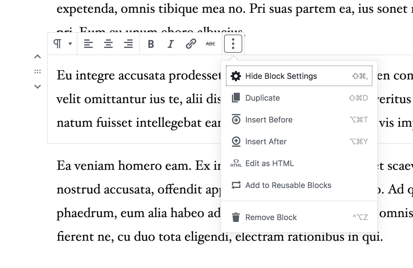 Improve keyboard navigation between the block inspector and