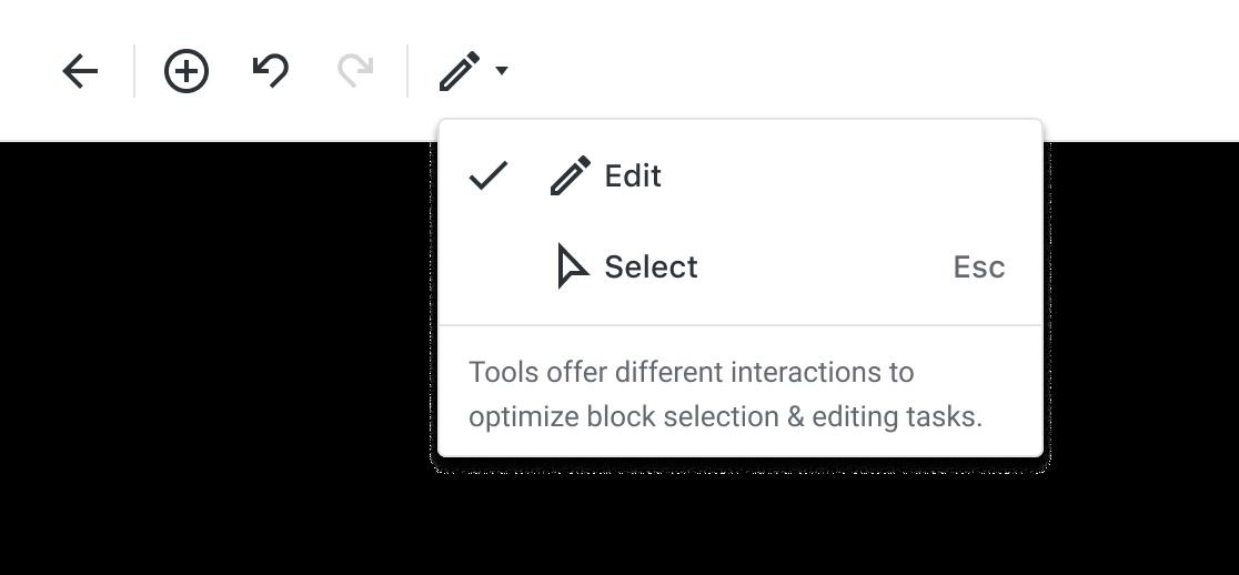 Edit Tools Dropdown