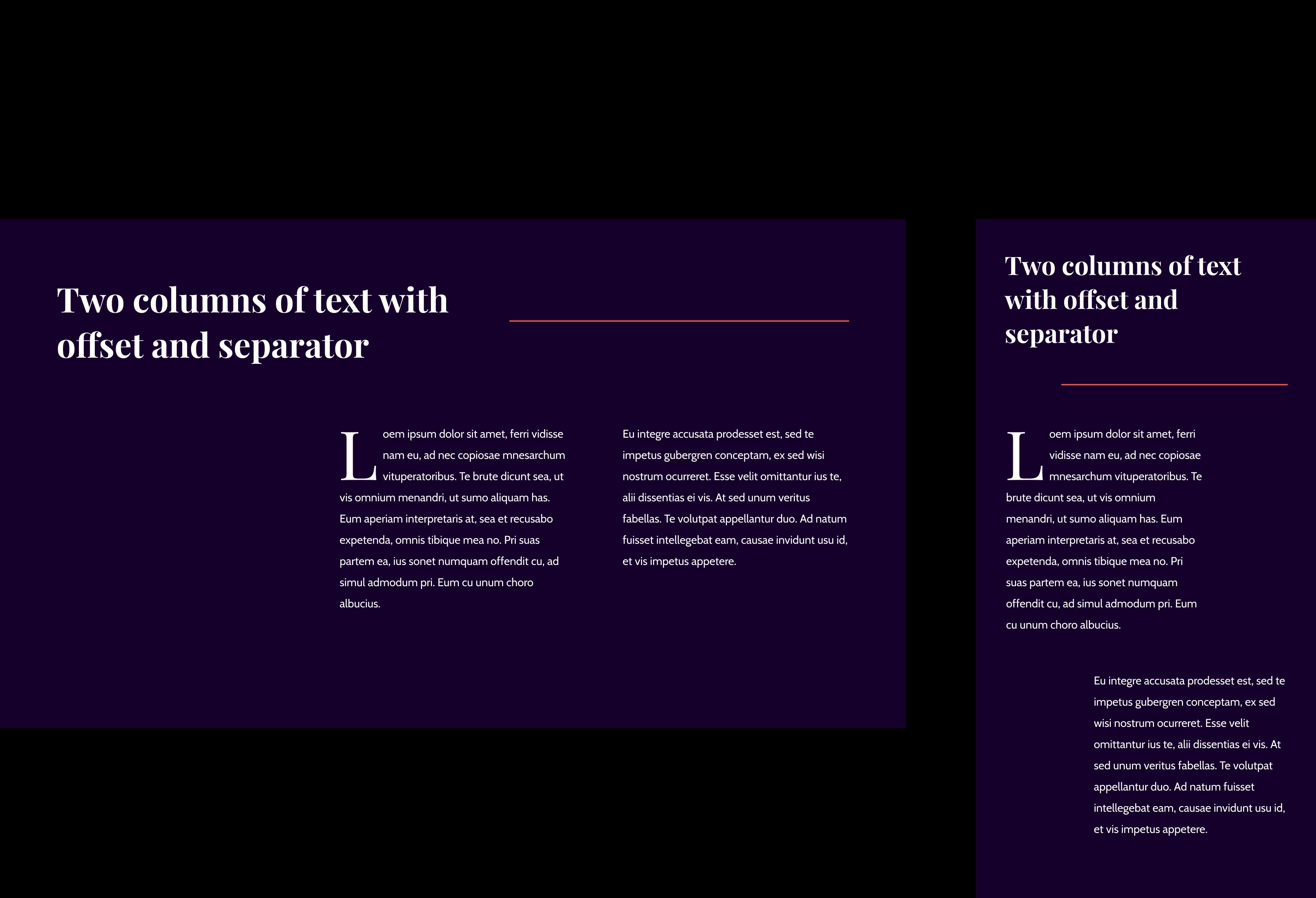 1 - Text Columns Pattern
