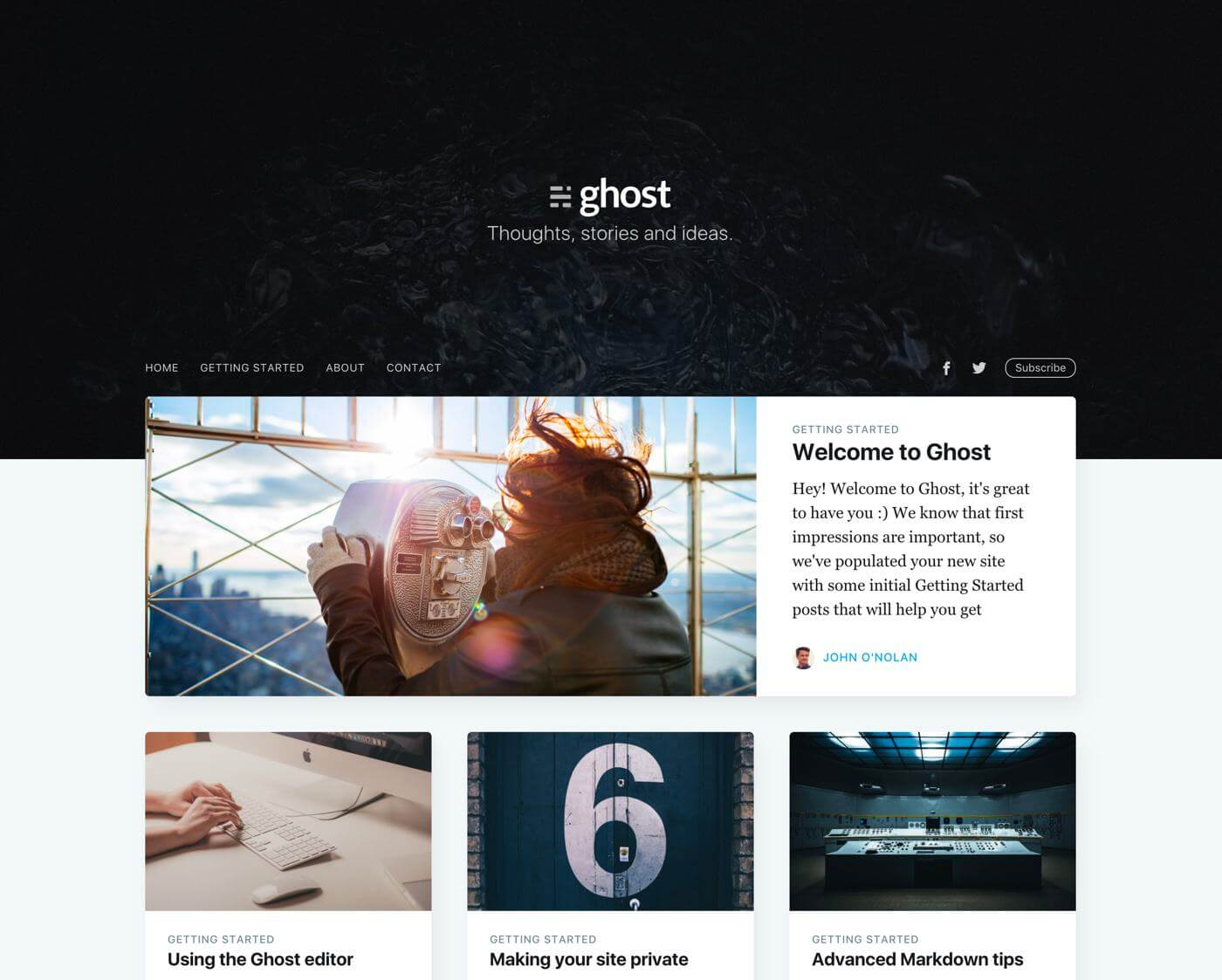 GitHub - TryGhost/Casper: The default personal blogging