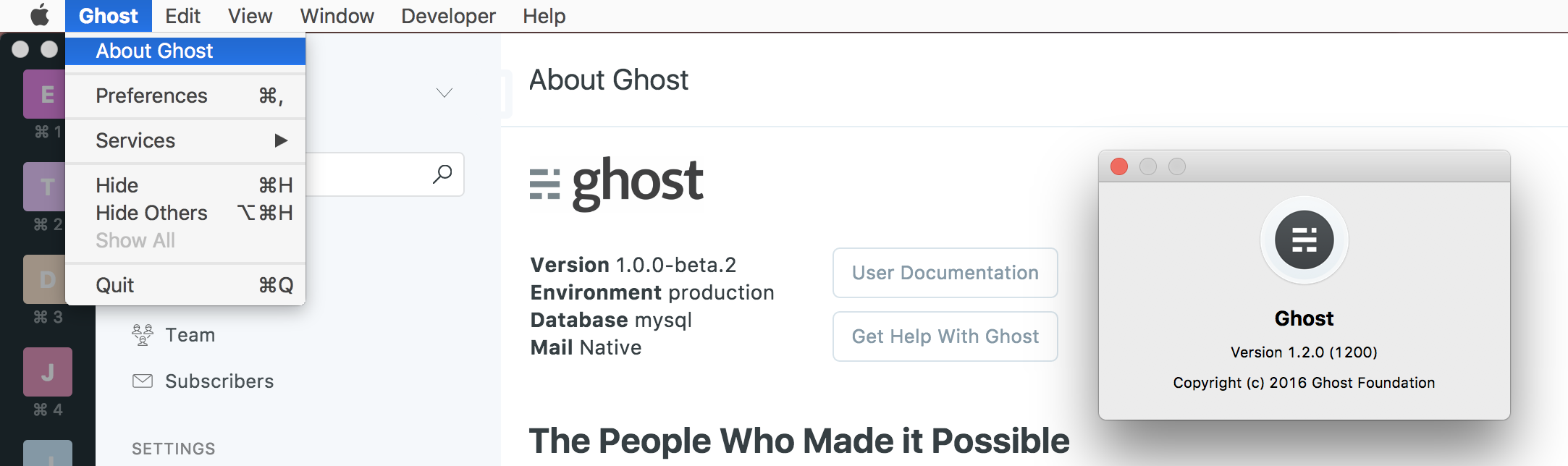 Add version software version number · Issue #277 · TryGhost/Ghost