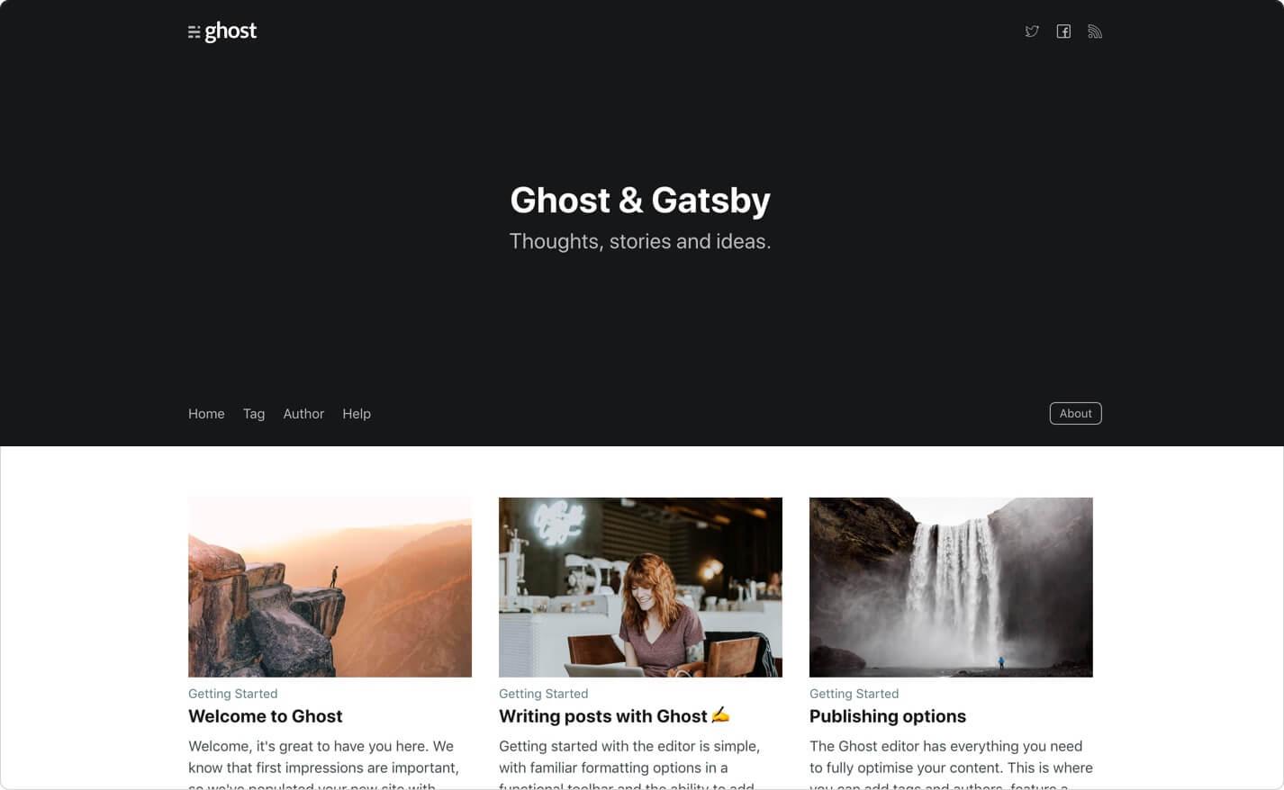 gatsby-starter-ghost