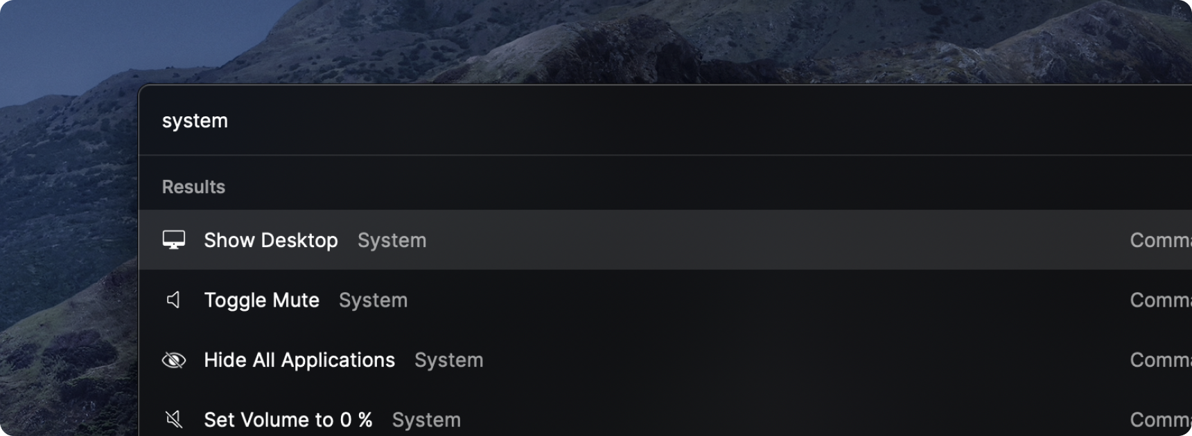 System Commands