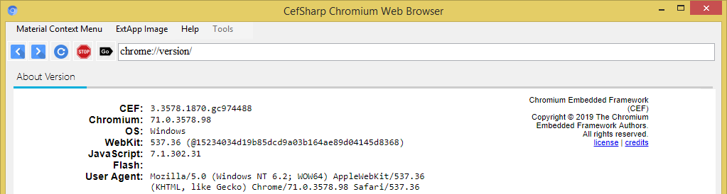 Build A Fast New Chromium Browser Downloader CefSharp version: 71.0.2 (71.0.3578.98)