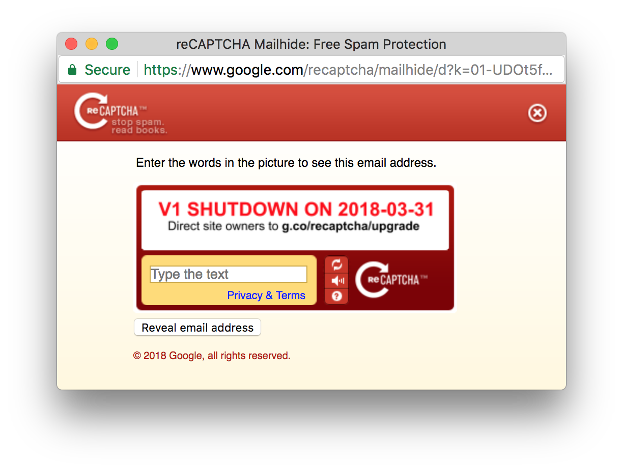 Is Mailhide no longer supported? · Issue #221 · google/recaptcha
