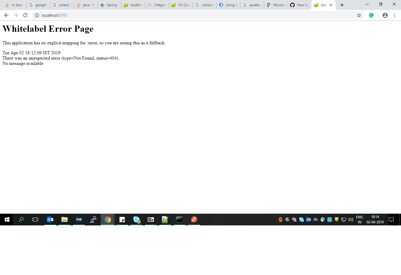Eureka Server is Up  But dashboard is not coming · Issue #3492