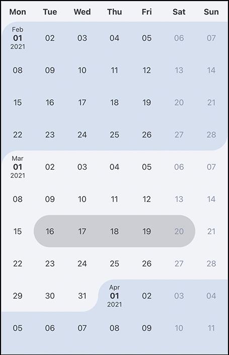 react-interval-calendar-light