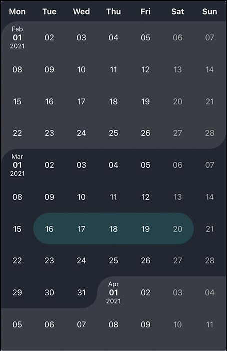 react-interval-calendar-dark