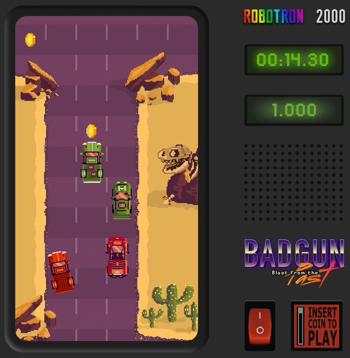 Screenshot of BADGUN game