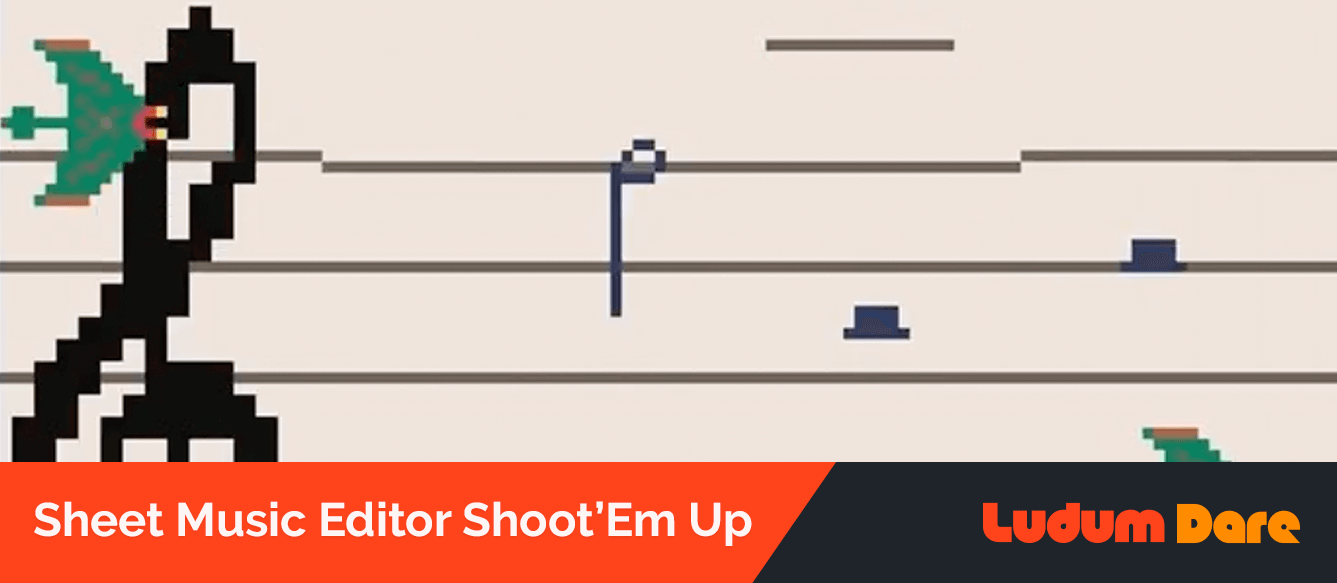 Sheet Music Editor Shoot'Em Up Screenshot