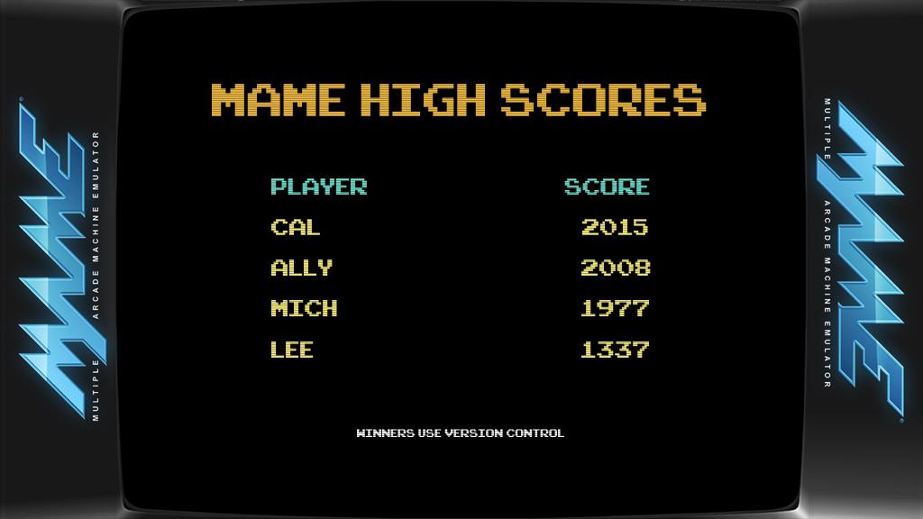 MAME High Scores