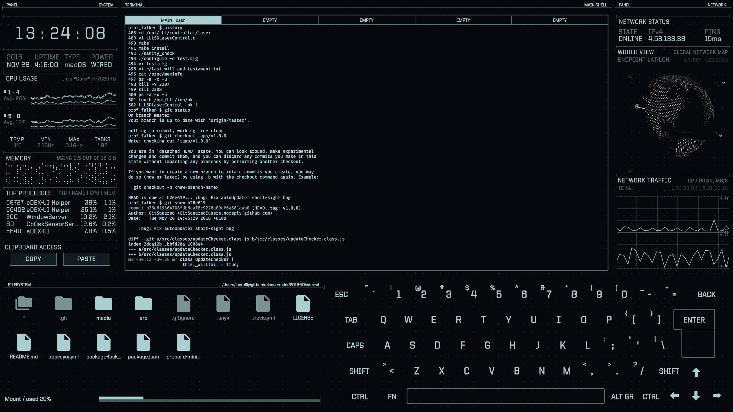 eDEX-UI i 1.0 example