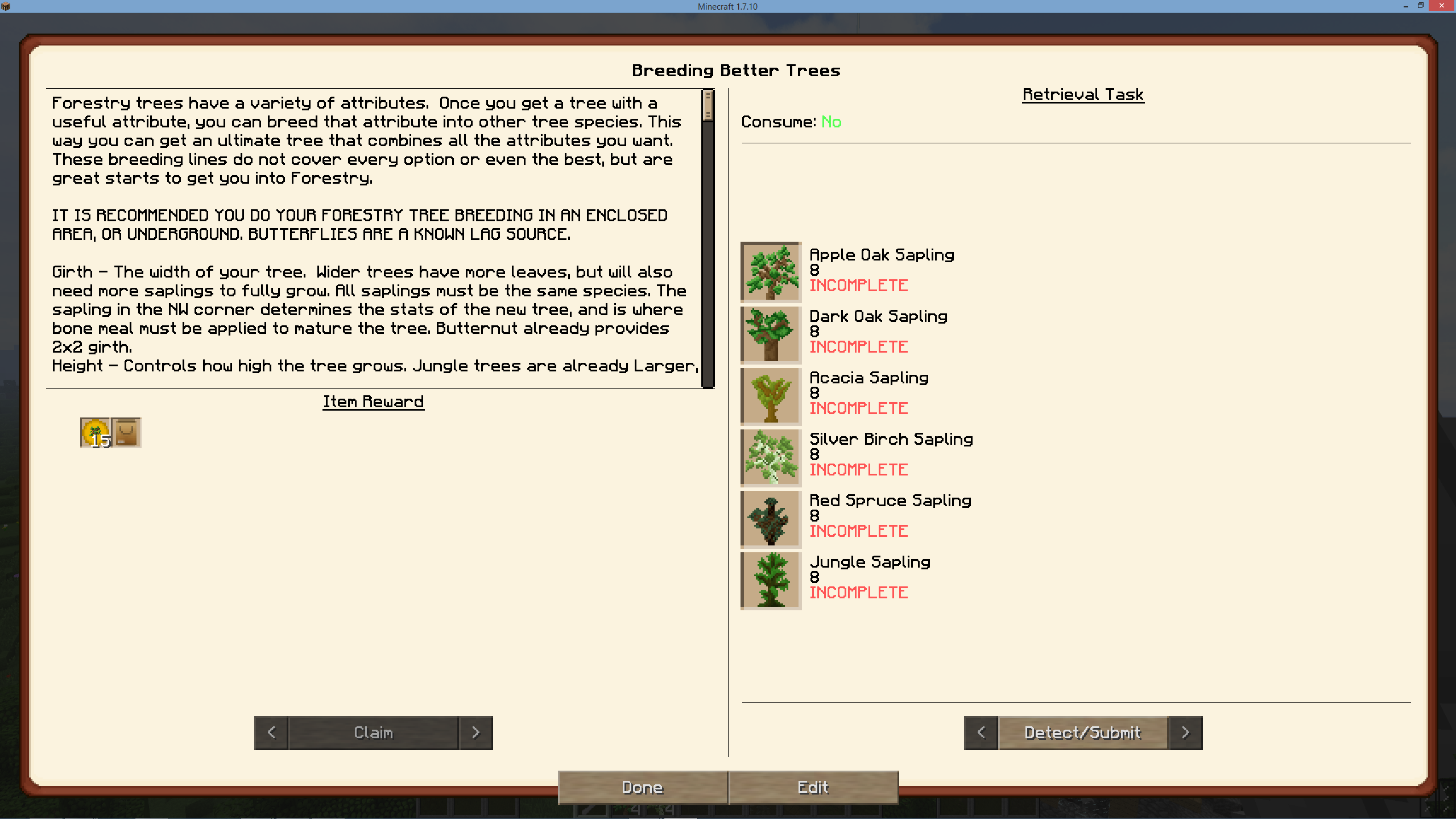 Add forestry tree quests for seedoil · Issue #3626