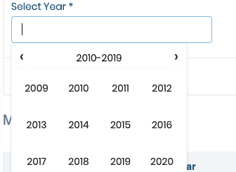 Is there any option to select just the year from the date