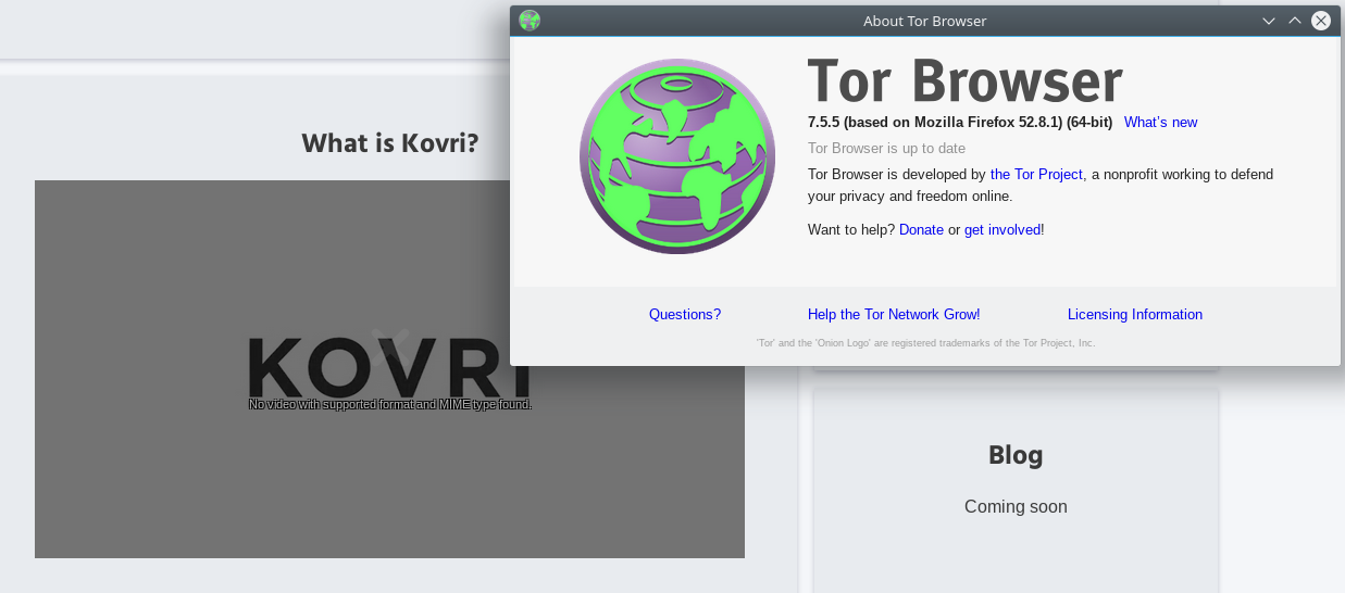getkovri org video not loading in Tor Browser · Issue #70 · monero