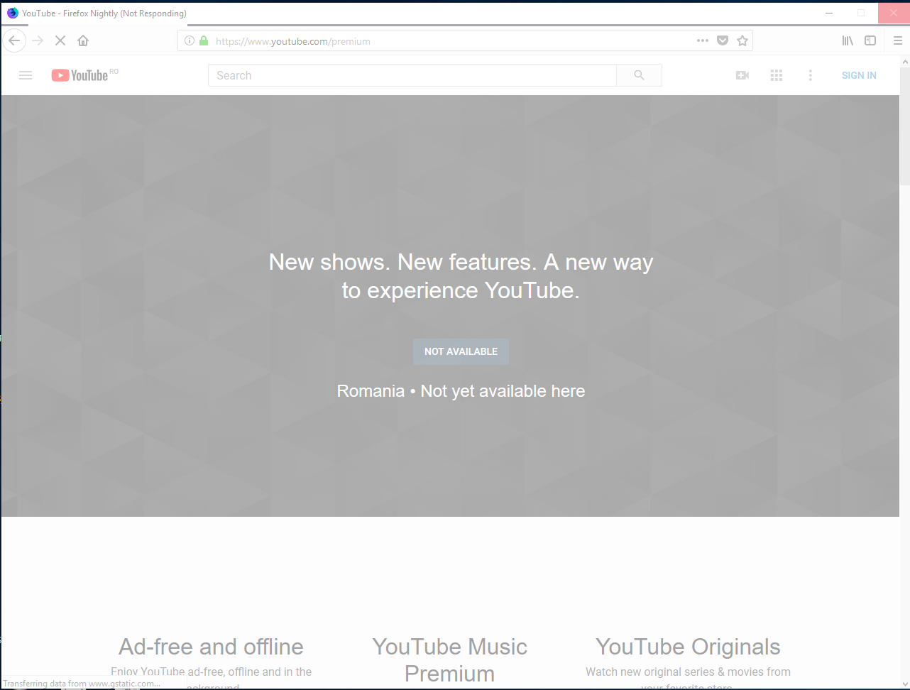 www youtube com/premium - site is not usable · Issue #17476