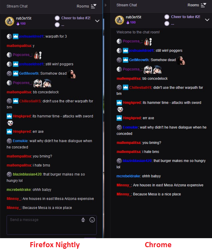 www twitch tv - Lighter font-weight text displayed in the