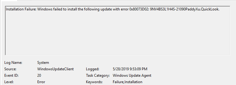 Windows 10 May 2019 1903 Update Error · Issue #506 · QL-Win