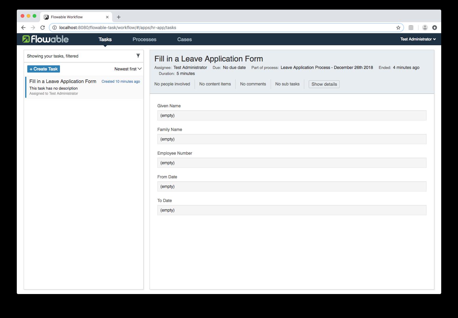 POST /runtime/tasks/{taskId} · Issue #1471 · flowable