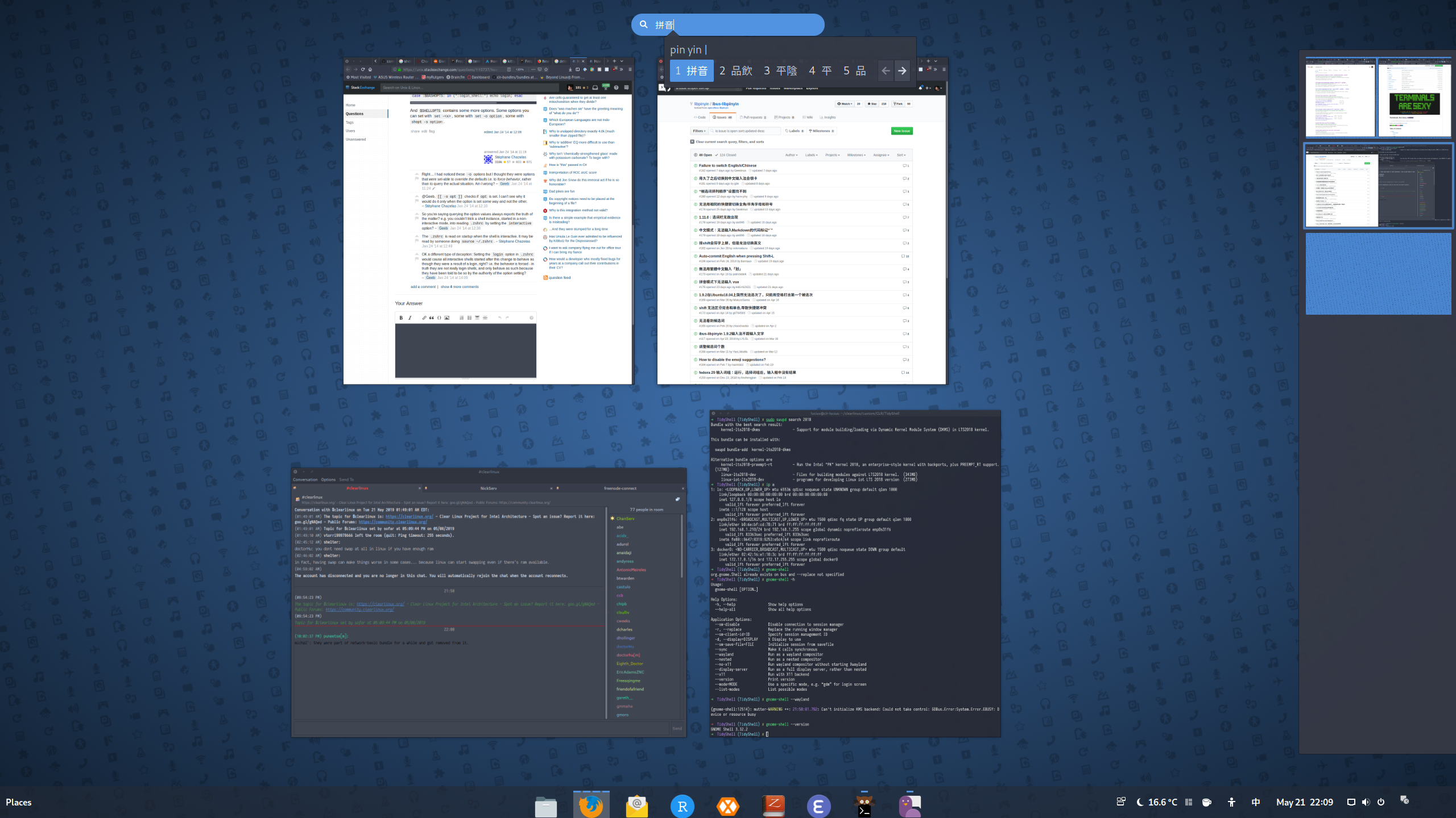 ibus-libpinyin can't input any chinese characters in GTK3 apps but
