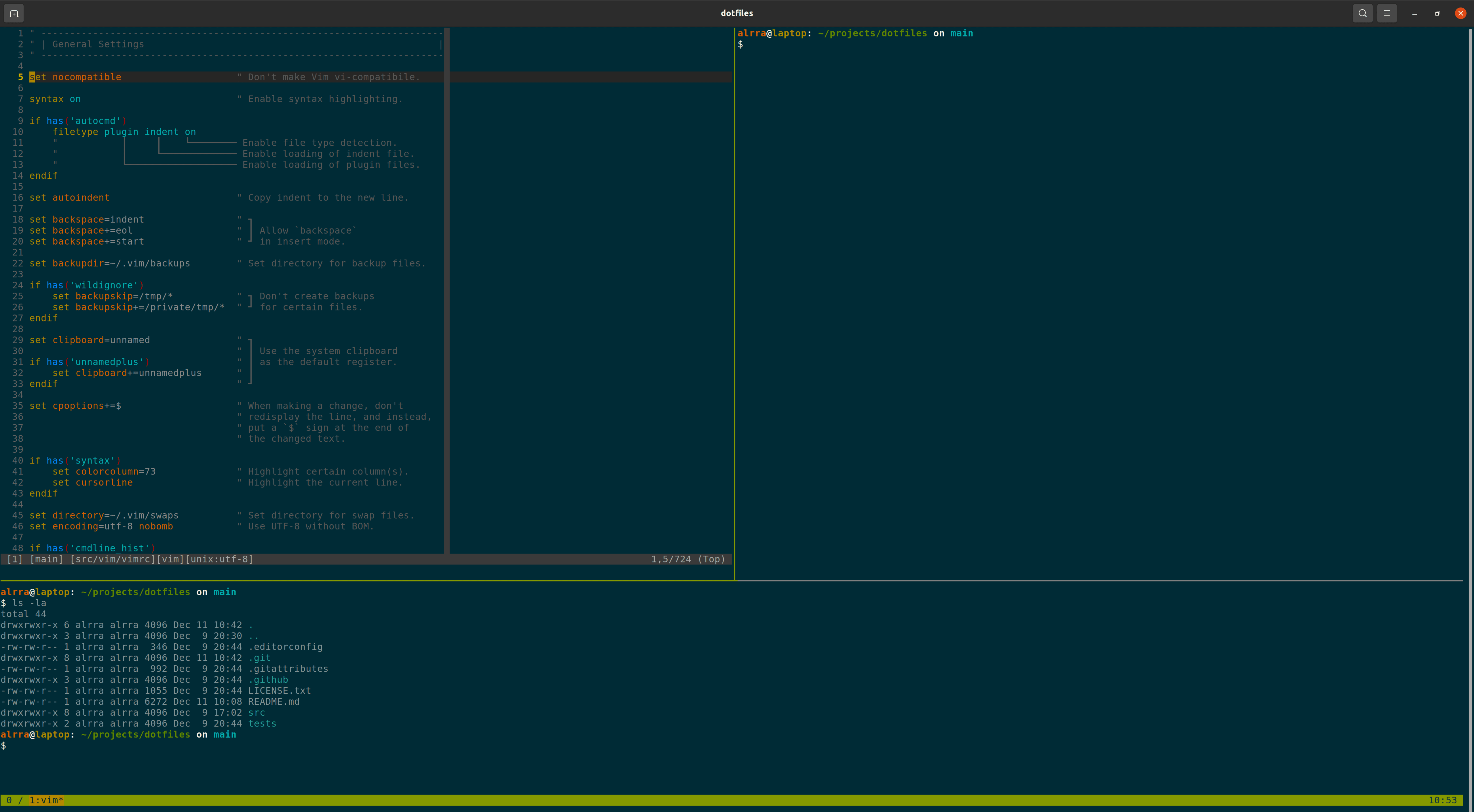 tmux and Vim on Ubuntu