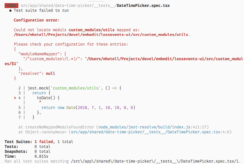 moduleNameMapper - mocks do not work for imported modules of
