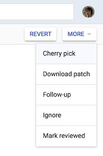 Top right corner > More > Cherry-pick