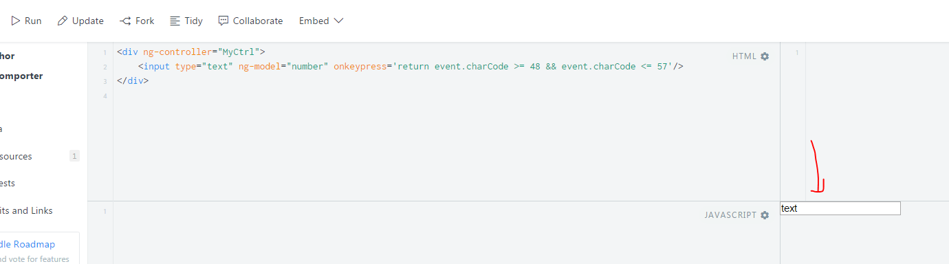 Allow only numbers in a text input with Angular - Stack Overflow