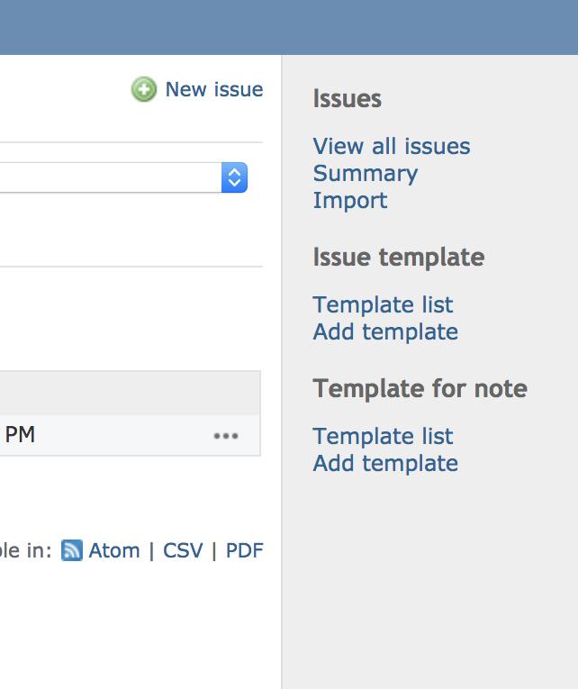 Issue Templates - Plugins - Redmine