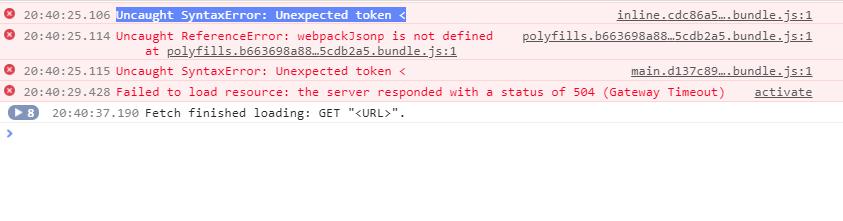 Angular webapp not loading sometimes (randomly) when using Service