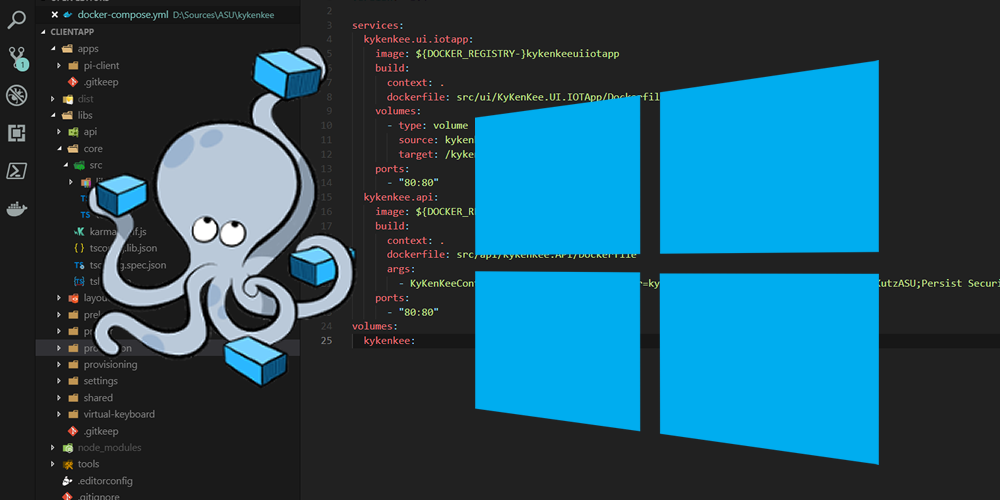 Communication between containers using docker compose in Windows