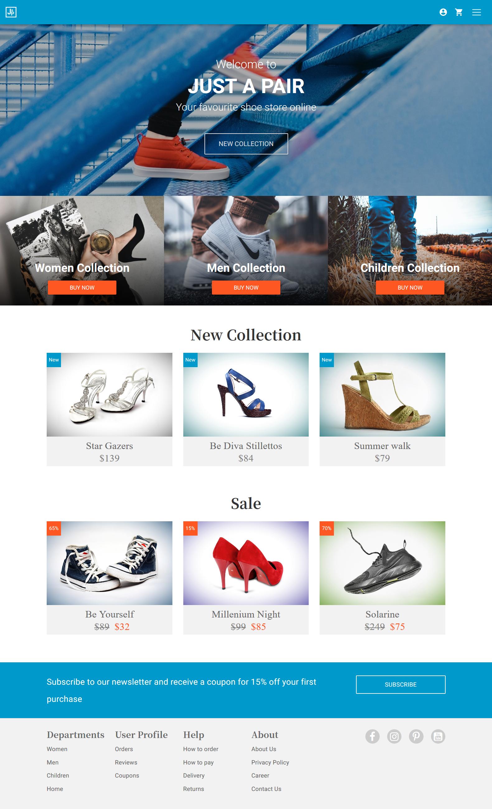 Shoe online store