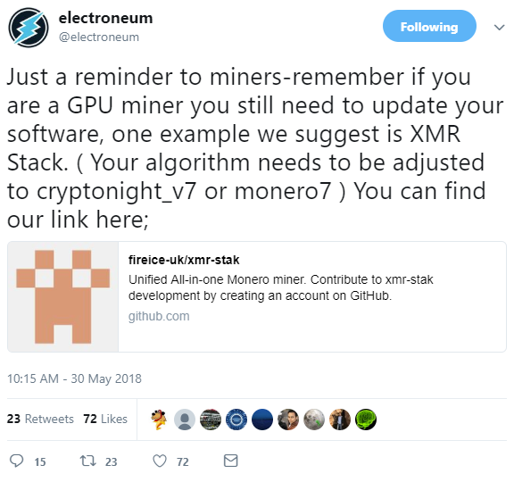 Electroneum (ETN) Network Upgrade · Issue #1603 · fireice-uk