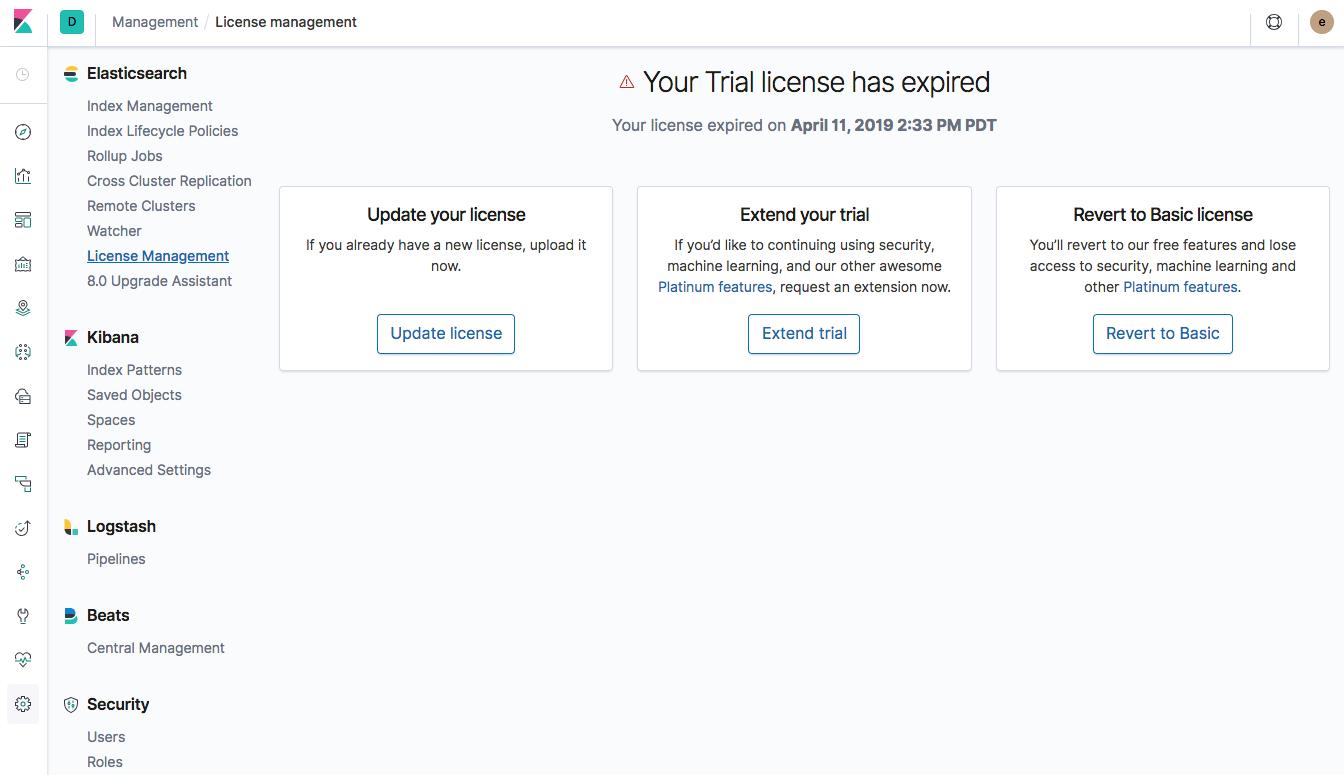 License Management UI should depend on API-based source of