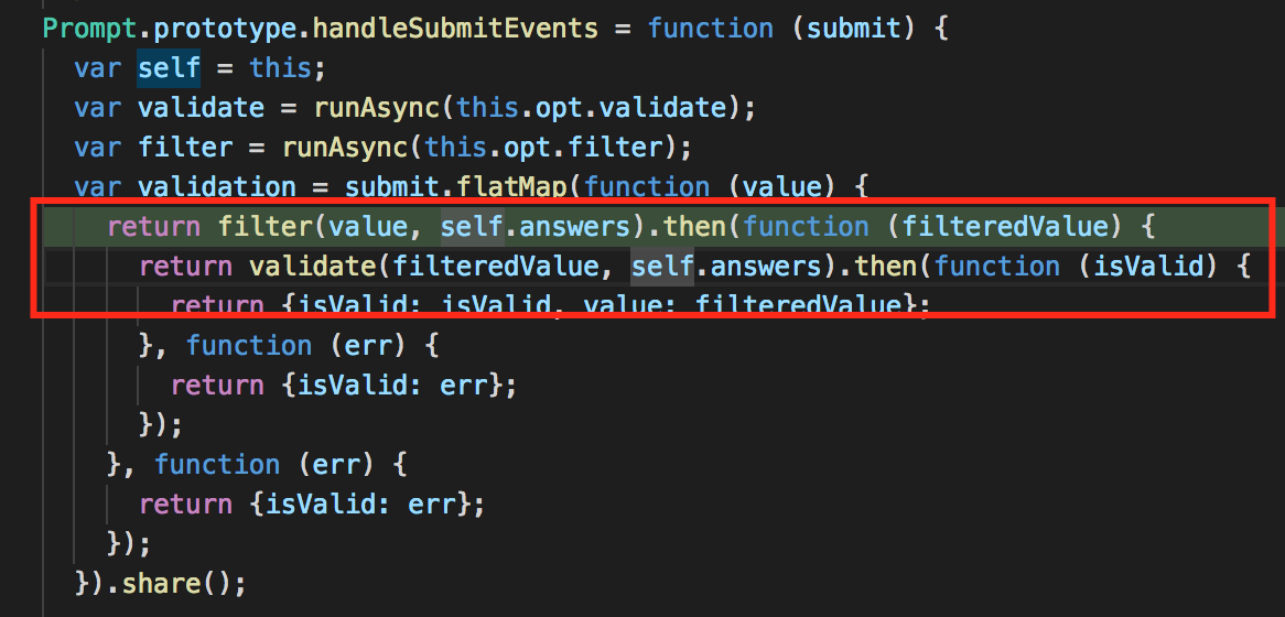 Feature request: Add a validation before filter is applied