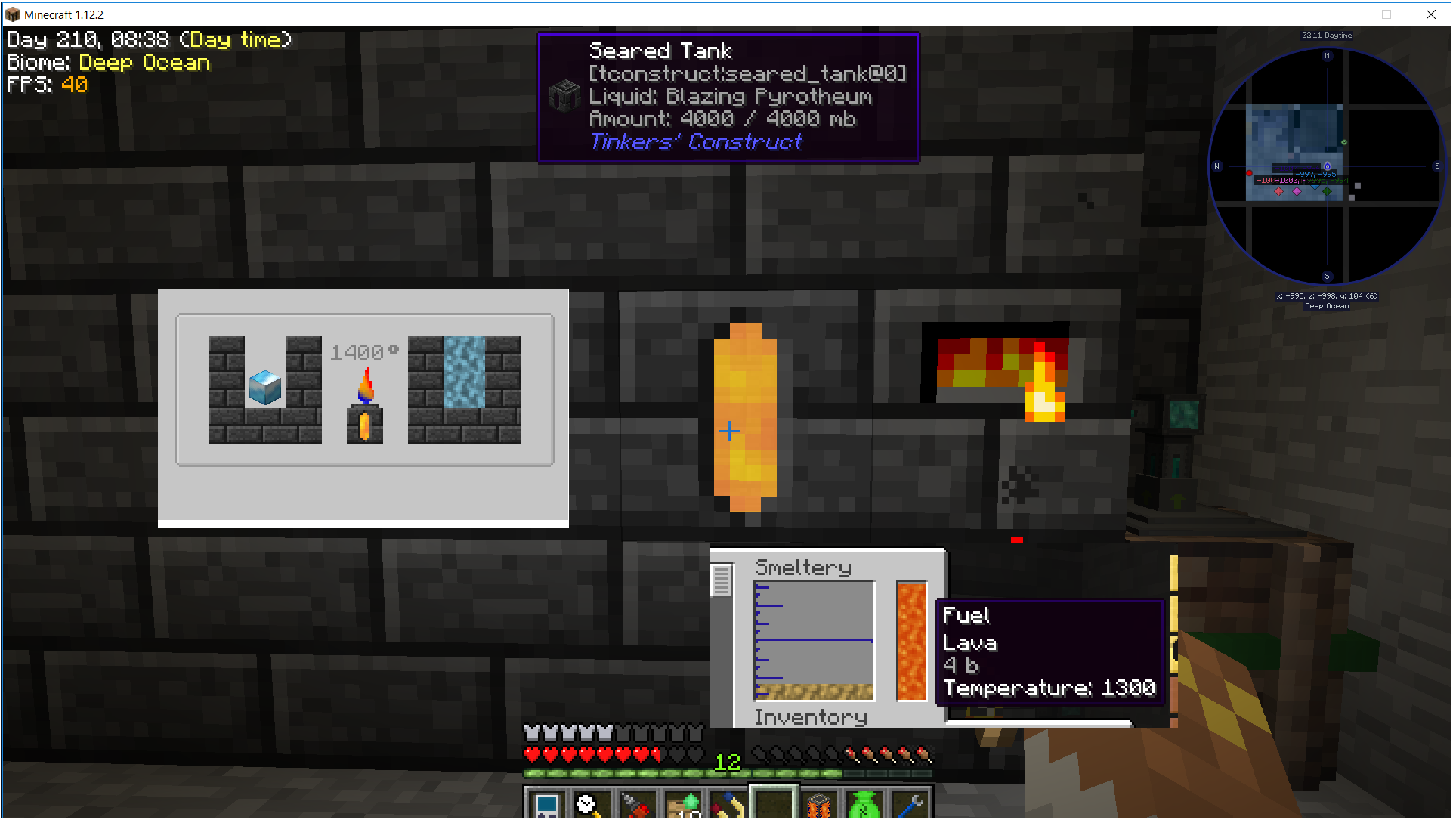 Hello There - Help with Tinker's Smeltery and Other Heat