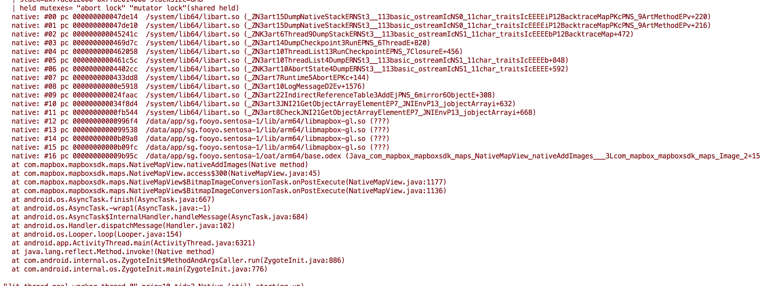 art/runtime/indirect_reference_table cc:132] JNI ERROR (app