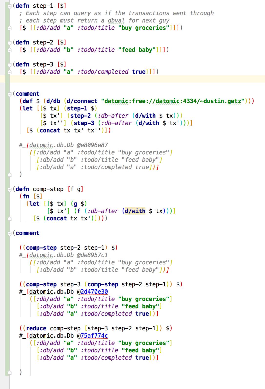 syntax highlighting: