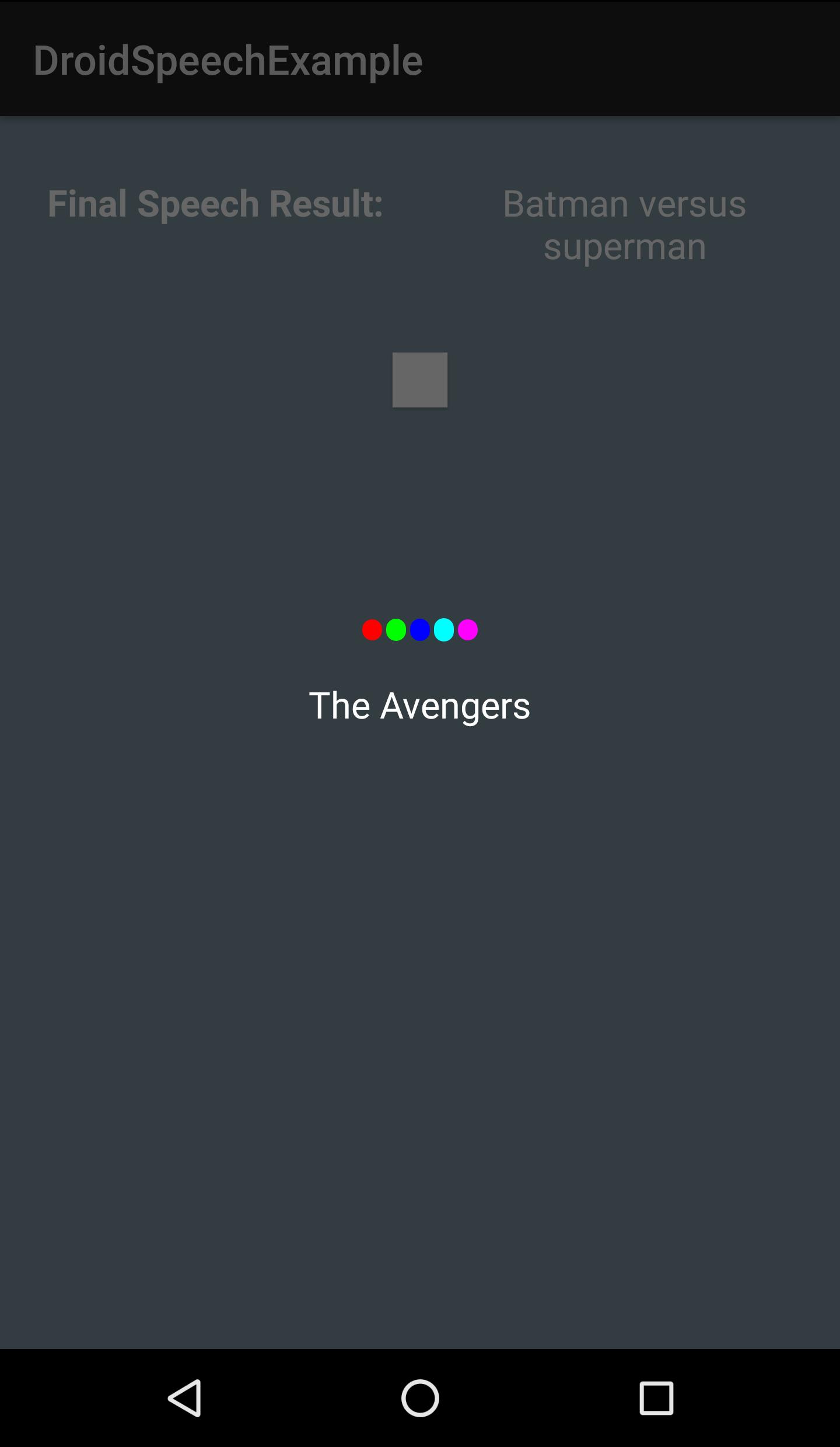 GitHub - vikramezhil/DroidSpeech: Android library for