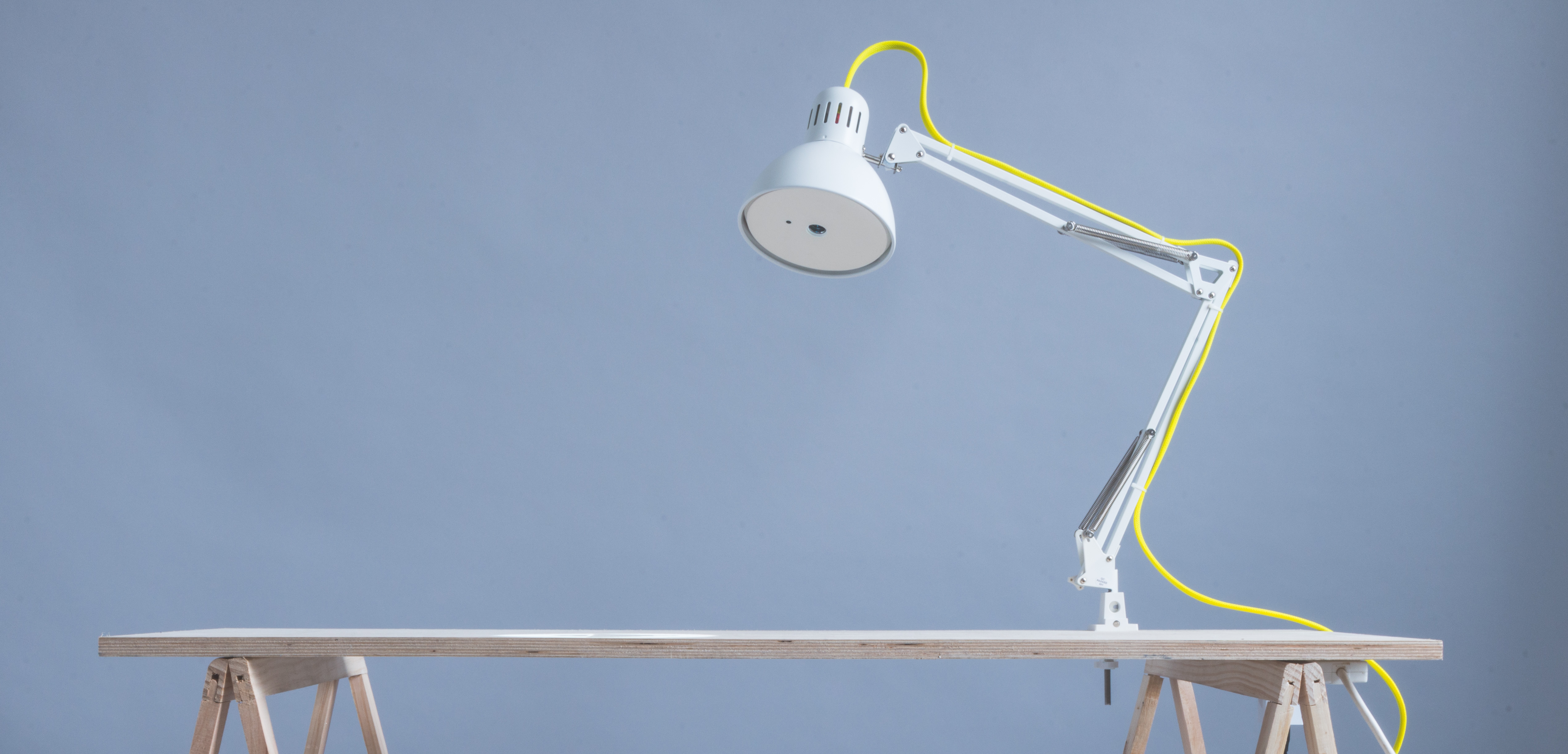 Lantern on a desk