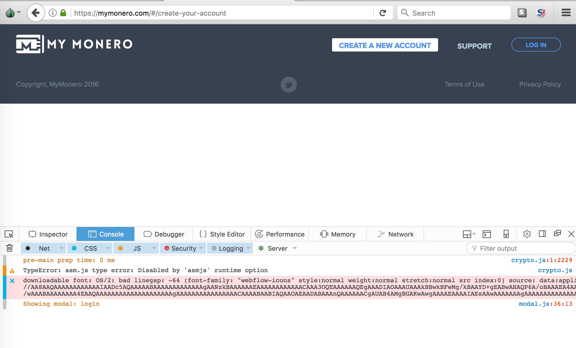 Broken for Tor browser · Issue #158 · mymonero/mymonero-app-js · GitHub