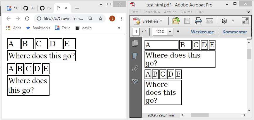 test html pdf - adobe acrobat pro